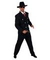 Zwart heren gangster kostuum